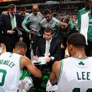 Celtics huddle